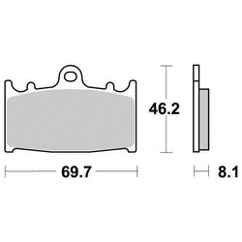Plaquettes de frein S1032N Sifam