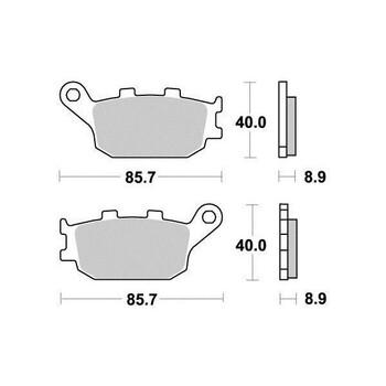 Plaquettes de frein S1035N Sifam