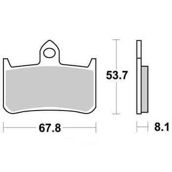 Plaquettes de frein S1092N Sifam