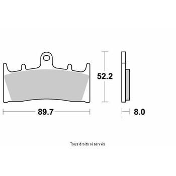 Plaquettes de frein S1093N Sifam