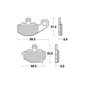 Plaquettes de frein S1094N Sifam