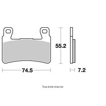 Plaquettes de frein S1166N Sifam