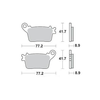 Plaquettes de frein S1174N Sifam