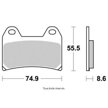 Plaquettes de frein S1262N Sifam