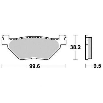 Plaquettes de frein S1269AN Sifam