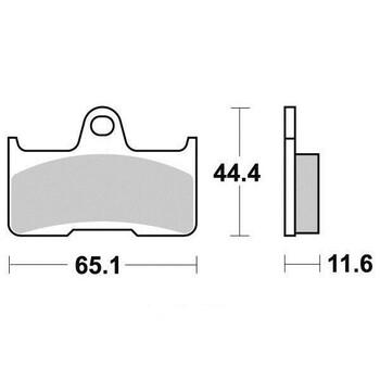 Plaquettes de frein S1270N Sifam