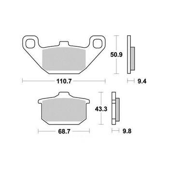 Plaquettes de frein S1002N Sifam