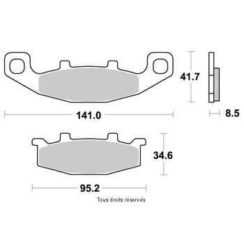 Plaquettes de frein S1004AN Sifam