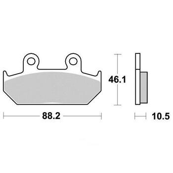 Plaquettes de frein S1005BN Sifam