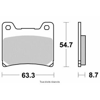 Plaquettes de frein S1007N Sifam