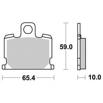 Plaquettes de frein S1013N Sifam