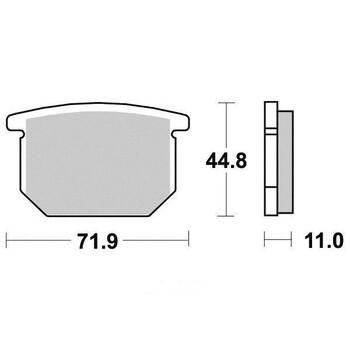 Plaquettes de frein S1017N Sifam