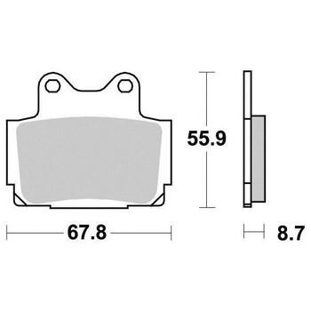 Plaquettes de frein S1024N Sifam