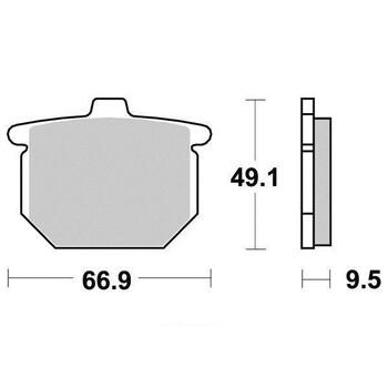 Plaquettes de frein S1027AN Sifam