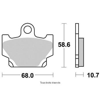 Plaquettes de frein S1038N Sifam