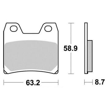 Plaquettes de frein S1268N Sifam