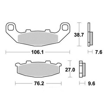 Plaquettes de frein S1015N Sifam