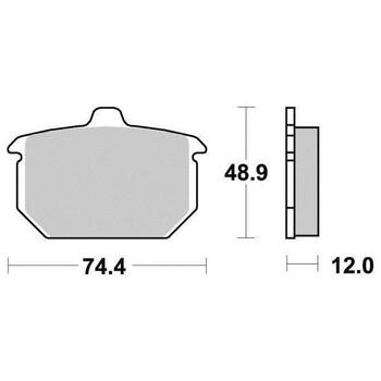 Plaquettes de frein S1022N Sifam