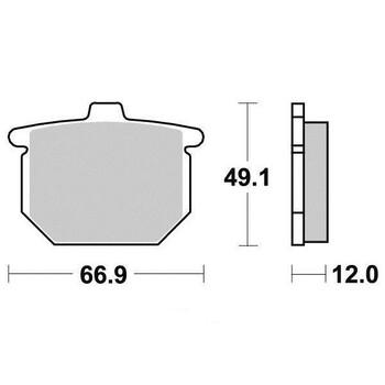 Plaquettes de frein S1027BN Sifam