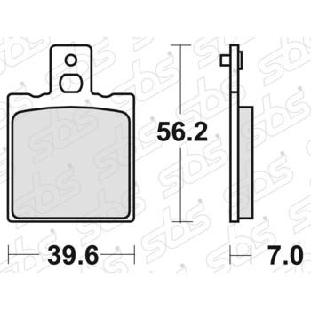 Plaquettes de frein 519 HF SBS
