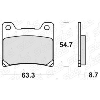 Plaquettes de frein 555 HF SBS