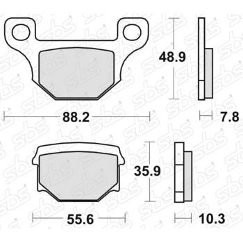 Plaquettes de frein 585 HF SBS