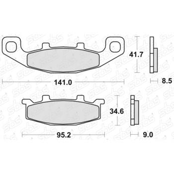 Plaquettes de frein 597 HF SBS