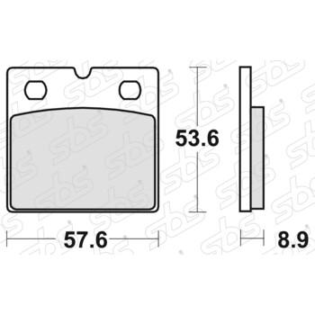 Plaquettes de frein 640 HF SBS