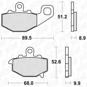Plaquettes de frein 687 HF SBS