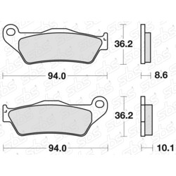 Plaquettes de frein 742 LS SBS