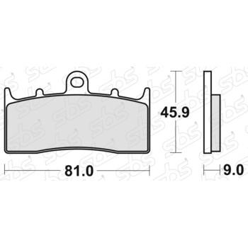 Plaquettes de frein 778 HF SBS