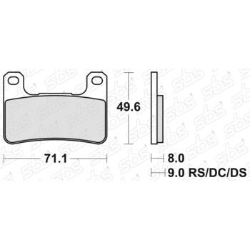 Plaquettes de frein 806 RS SBS