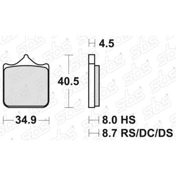 Plaquettes de frein 870 HS SBS