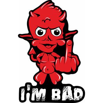 Sticker Devil Print