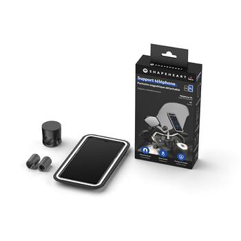Support smartphone magnétique vissé pour rétroviseur Shapeheart